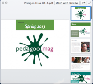 Screengrab of the PDF of PedagooMag
