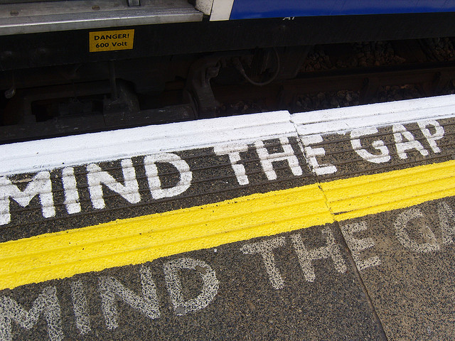 Mind the Gap! by flickr.com/photos/buhsnarf